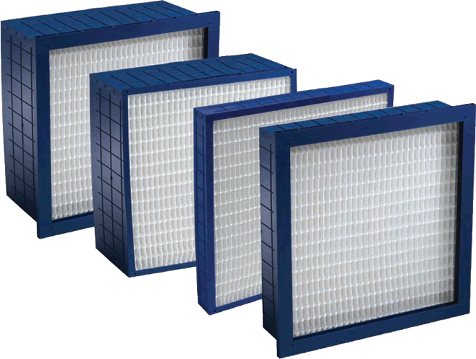 Four different models of the Dominator pleated air filter from 4\