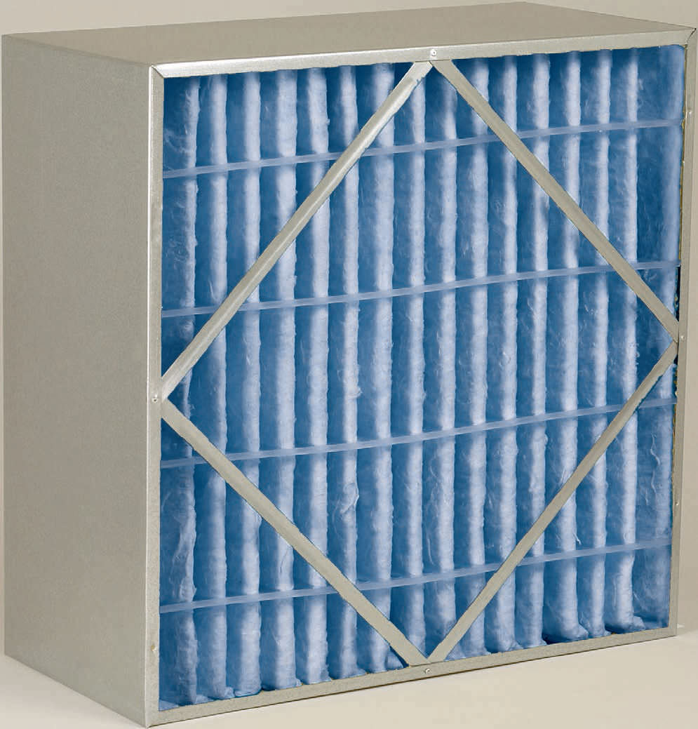 A purolator Defiant Cell high and medium-efficiency, rigid, box air filter.