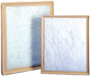 Two Purolator P312 synthetic disposable panel filters with MERV 4 performance.