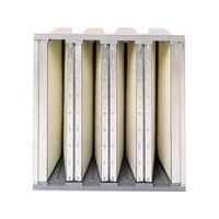 A Purolator SERVA CELL VA mini pleated air filter with industrial strength construction.